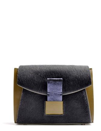 OSTWALD Bags . GLIDE . Shoulder bag  . Leather bag in multicolor . olive and blue leather bag . Shop online . Webshop