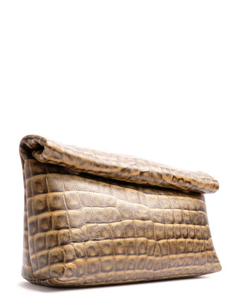 OSTWALD Bags . HIP . Body bag  . Leather bag  in taupe and gold .  Crossover bag . Shop online . Webshop