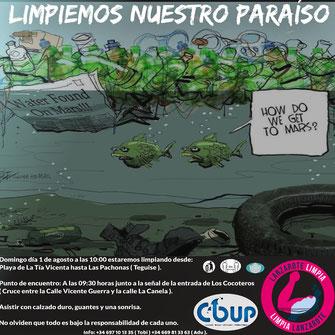 COUP, Lanzarote Limpia, Cleanup, Beachclean, Strand, Lanzarote, Reinigung, Limpieza, Playa, Paradiso, Beach