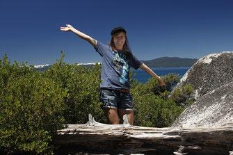 Bloggerin am Lake Tahoe