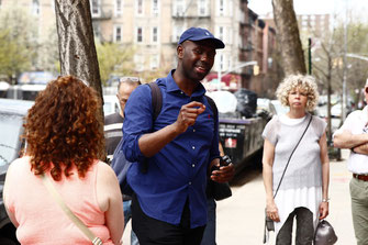 A guided walking tour in Harlem, New York