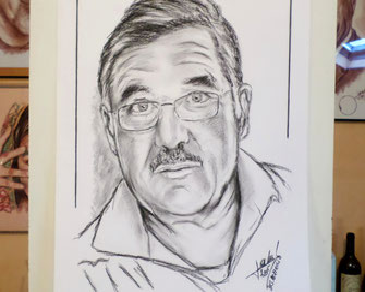 Portrait-crayon-fusain