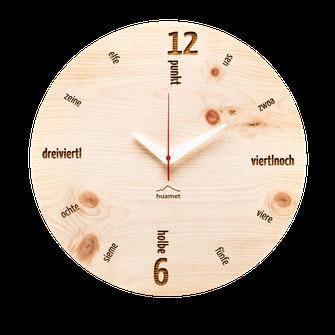 Wanduhr Holz aus Südtirol modern Tafinity