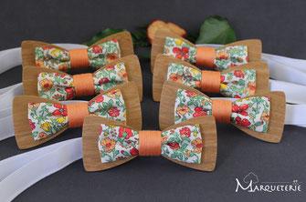 Noeuds papillon personnalisés pour mariage à thème champêtre