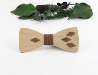 Noeud pap bois noyer erable accessoire wedding tendance