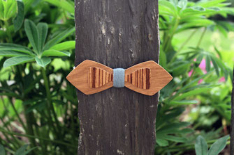 Noeud papillon bois pas cher, noeud pap en bois bleu