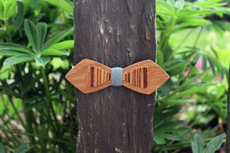 Noeud papillon double en bois, noeud papillon bois pas cher, noeud pap en bois bleu