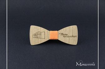 Noeud papillon logo entreprise, noeud pap bois personnalisé