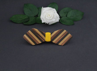 Noeud pap en marqueterie bois, noeud pap en bois unique, noeud pap en bois pas cher, accessoire wedding homme