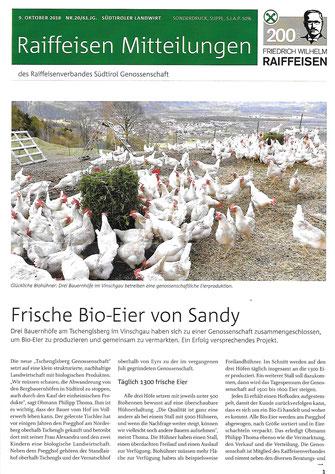 Bio Eier vom Tschenglsberg