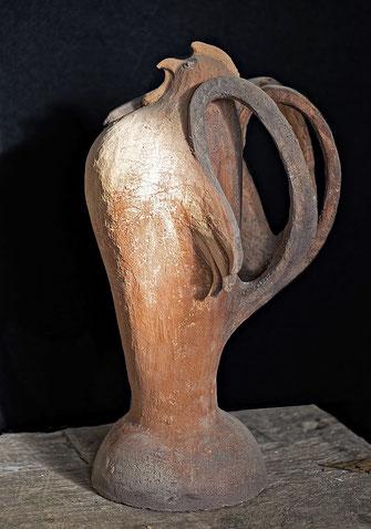 Gockel; 2004; 45cm; Keramik