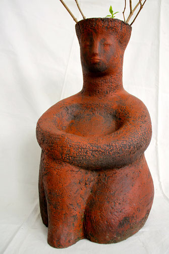 Rote Gefäßfigur; 2011; 55cm; Steinzeug