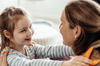 Glückspunkt-Methode Mutter und Kind