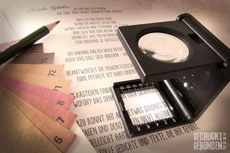 Farbfächer Farbpalette Druckbogen Fadenzähler Korrekturabzug