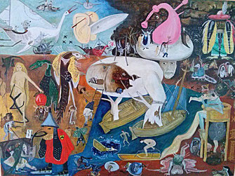 All the Monsters, Hommage Hieronymus Bosch (Öl) 2013 80x60