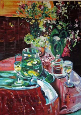 La citronnade, peinture à l'huile, Claire ALLARD