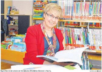 Bücherei-Leiterin Ingrid Reis, SZ-Foto von Eva Winhart