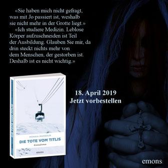 Die Tote vom Titlis Krimi von Monika Mansour Buch Emons Verlag