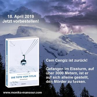 Die Tote vom Titlis Krimi Monika Mansour Buch