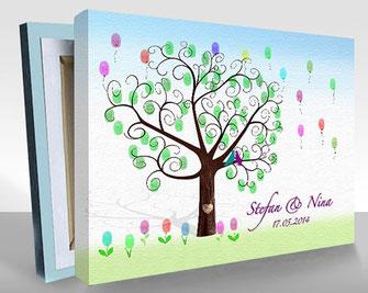 hochzeitsbaum als hochzeitsgeschenk fingerabdruck hochzeitsspiel wedding tree. Black Bedroom Furniture Sets. Home Design Ideas