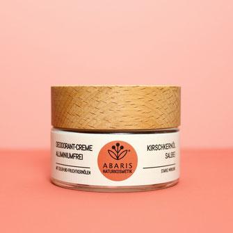 ABARIS Naturkosmetik Deocreme Deo Deodorant Creme aluminiumfrei Natron ohne Aluminium ohne Aluminiumsalze vegan nachhaltig Kunststoff reduziert palmölfrei