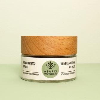 ABARIS Naturkosmetik Feuchtigkeitspflege Hautcreme Creme Bio Fruchtkernöle vegan nachhaltig palmölfrei Himbeerkernöl Rotklee Kunststoff reduziert