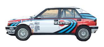 lancia delta 16v integrale 1990 complete graphics sponsor livery martini pubblimais