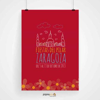 Cartel Fiestas del Pilar 2013