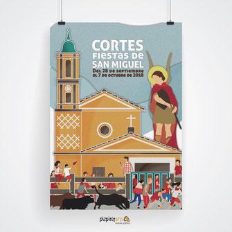 Cartel Fiestas Cortes de Navarra 2018