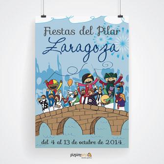 Cartel Fiestas del Pilar 2014