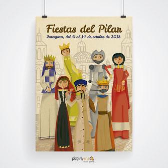 Cartel Fiestas del Pilar 2018