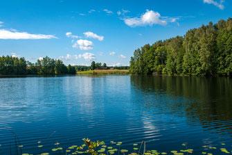 Märchenhafte Landschaft mit Haus am See als Wandposter online kaufen oder kostenlos lizenzfrei herunterladen