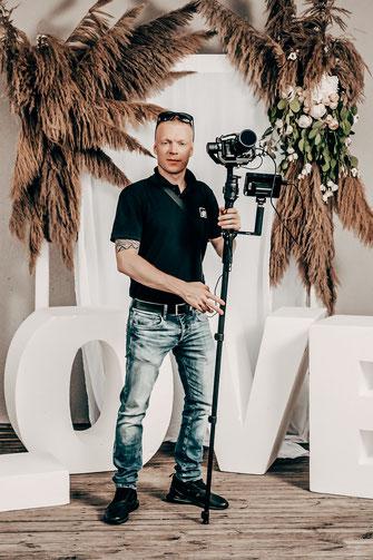 Videograf für Hochzeitsfilme, Imagefilm, Werbespots, Produktvideos