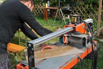 Nasssäge Fliesendesign Holzoptik