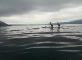 洞爺湖を漕ぐ