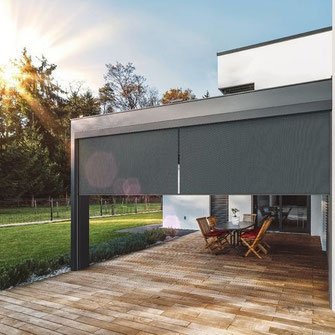 Fenstermarkise für Terrassendächer und Pergolen
