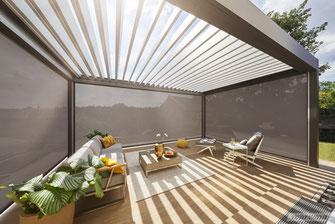 WAREMA integrierte Markise für Lamellendächer