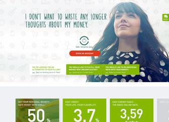 Webseite der easybank