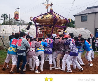 門前人さん:矢田部大鳥神社祭礼