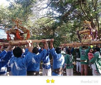 門前人さん:永井海津見神社 十三年目式年神幸祭