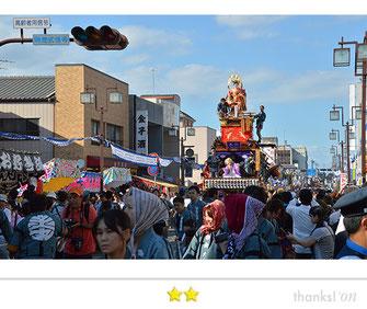 カエルさん:石岡のお祭り