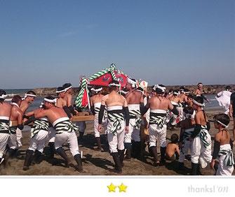 門前人さん,大原はだか祭り前日祭,千葉県いすみ市大原海水浴場