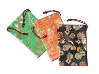 金襴織巾着 サイズ:幅約16cm×高さ約24cm  ※実際の商品と写真の色は若干異なる場合がございます。