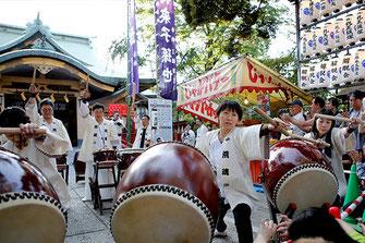 Matoi(firemans standard) Performance and Japanese Festival Music, Edogawa Tenmukai