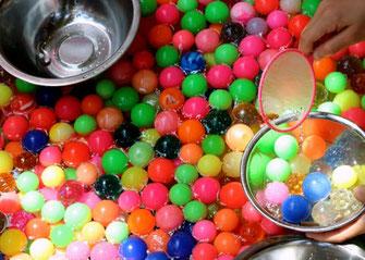 Bouncy ball scooping, Matsuri Stalls, hibiya oedo matsuri