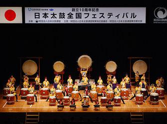 日比谷大江戸まつり 2019, ステージプログラム, 参加出演者, 和太鼓, 日本太鼓財団 東京都支部合同チ-ム