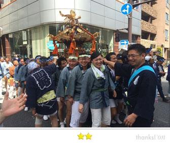 まさヤンさん:鐵砲洲稲荷神社例大祭