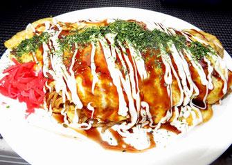 Omelette fried noodles, Happy Chappie, hibiya oedo matsuri