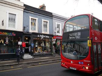 Einer der ersten Eindrücke von Notting Hill...