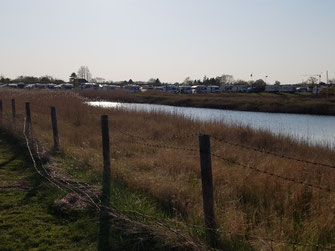 Stellplatz von der Wasserseite aus gesehen